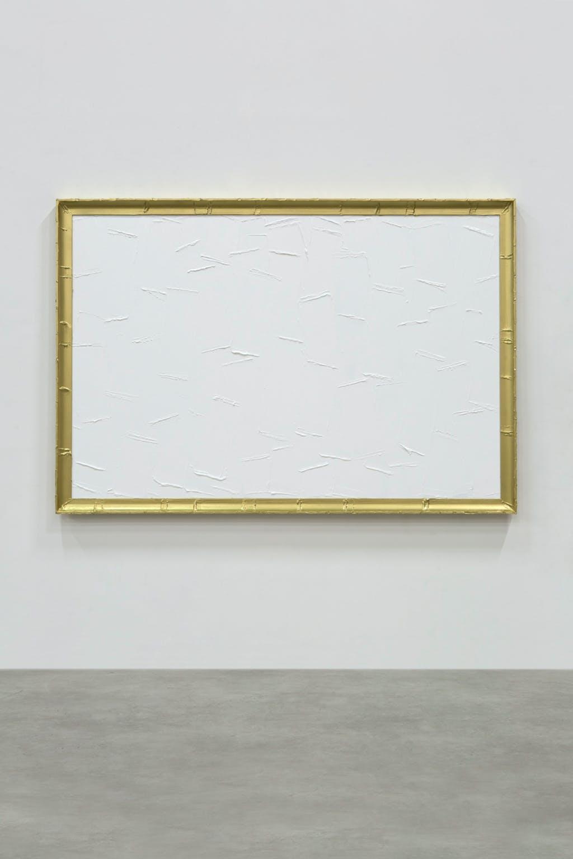 Peinture blanche et dorée - © kamel mennour