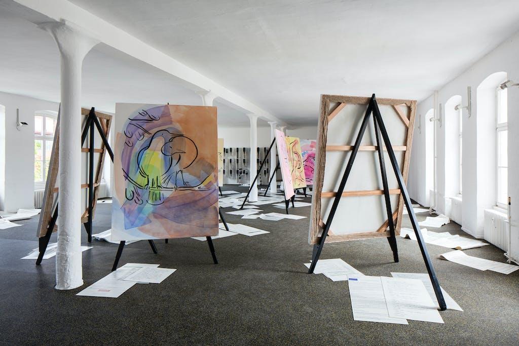 Exhibition view, Berlin Biennale - © kamel mennour
