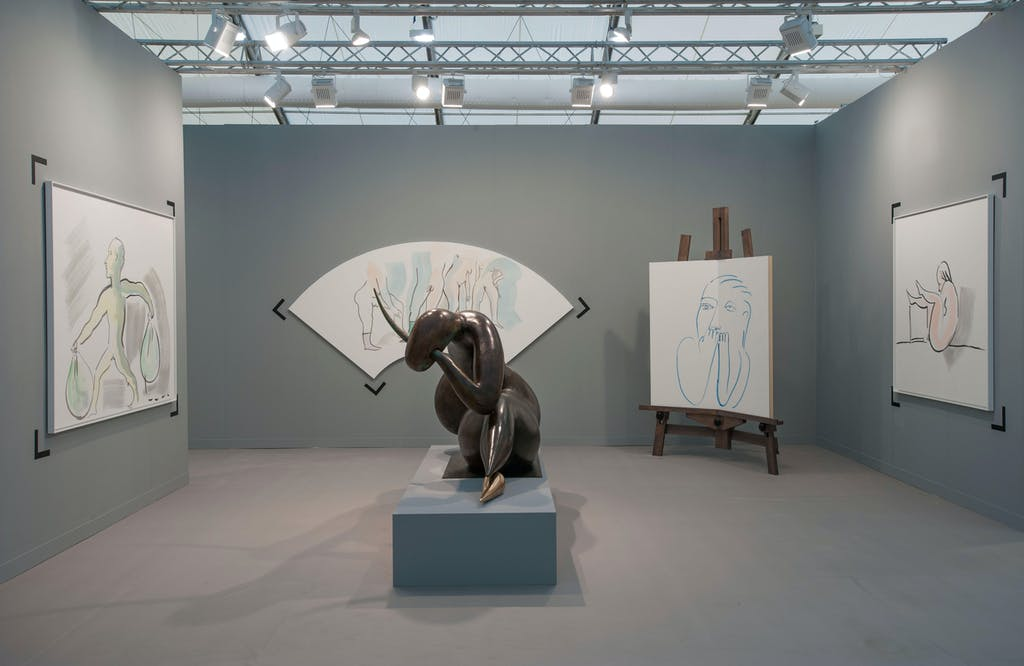 Exhibition view, Frieze London - © kamel mennour