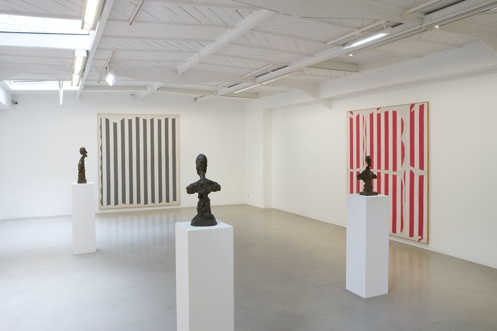 Daniel Buren & Alberto Giacometti. Œuvres contemporaines 1964-1966 - © kamel mennour