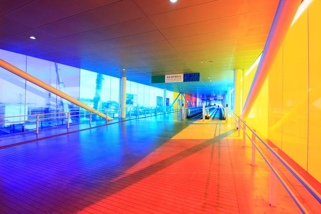 In the corridor: the Four Rainbows,work in situ - © kamel mennour