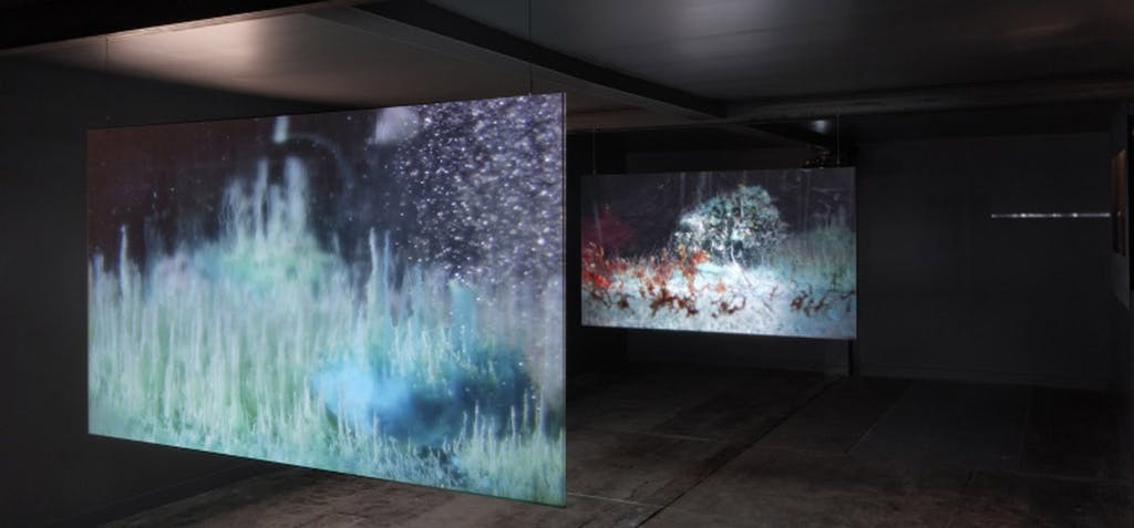 Vue l'installation d'Hicham Berrada, Production ésam Caen/Cherbourg, Musée éclaté de la presqu'île de Caen, 2013. Crédits photo : Aurélien Mole - © kamel mennour