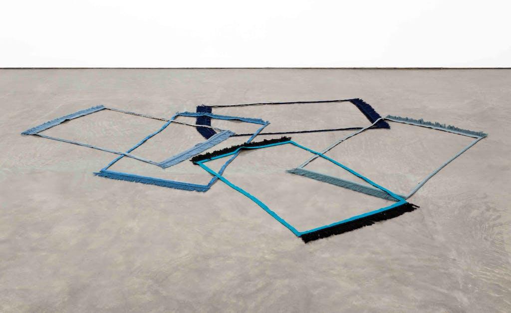 Frames (bleu-noir, turquin, denim, ardoise, marine) - © kamel mennour