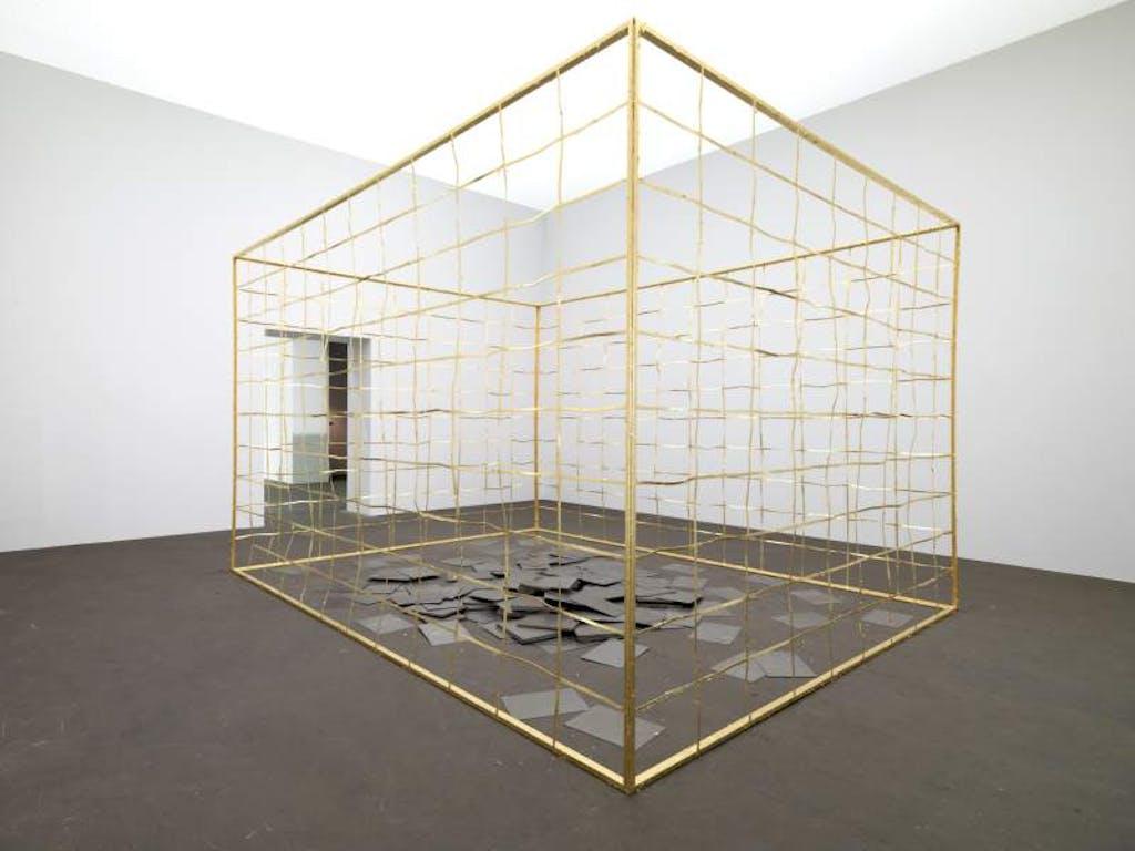 Installation view, Golden Cage, Art Unlimited, Art Basel - © kamel mennour