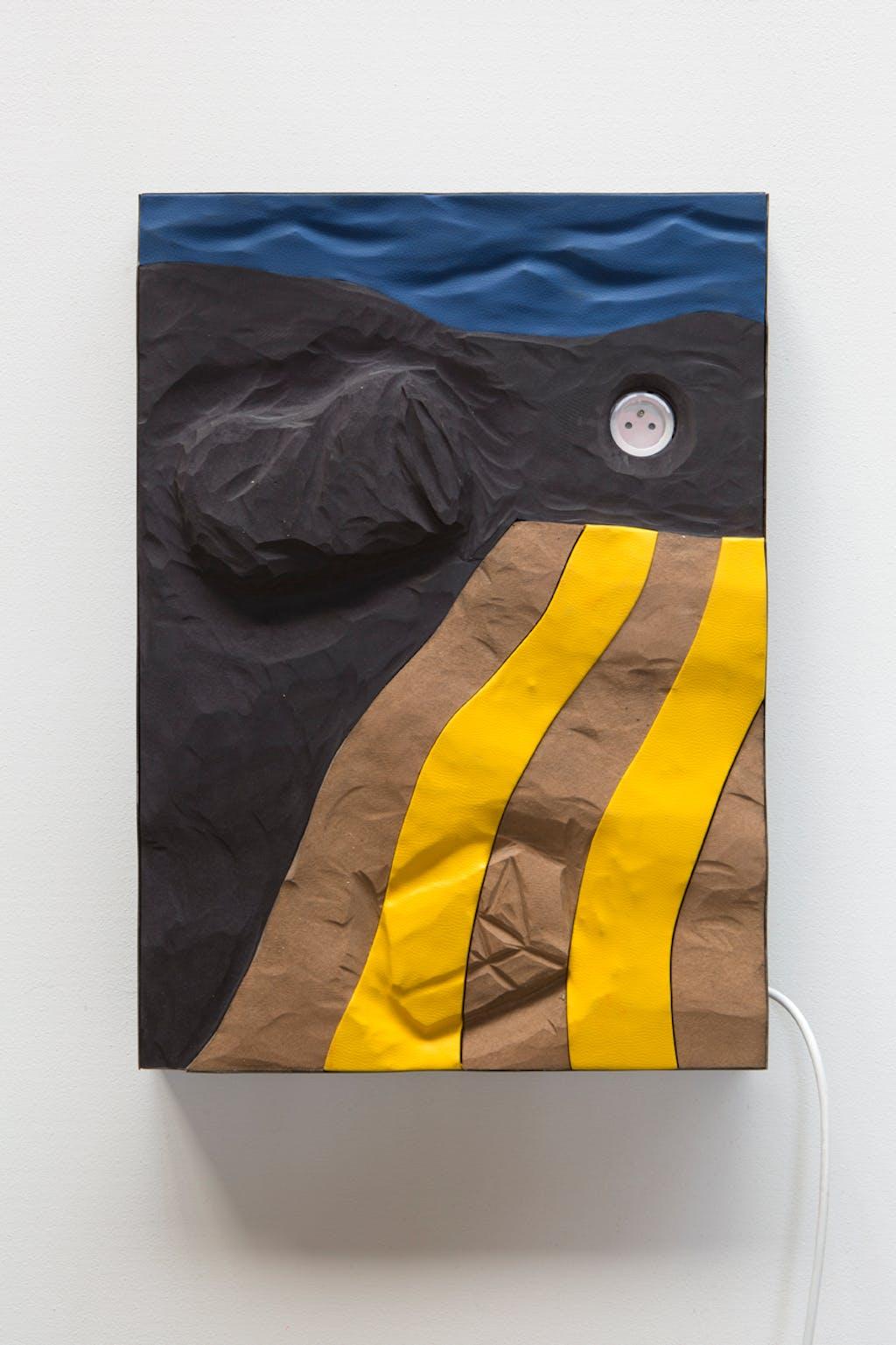 Towel on Black Sand - © kamel mennour
