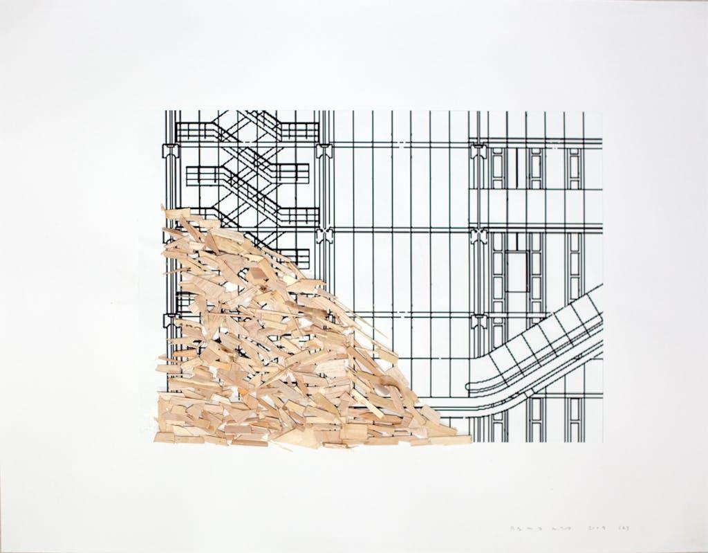 Pompidou plan 2 - © kamel mennour
