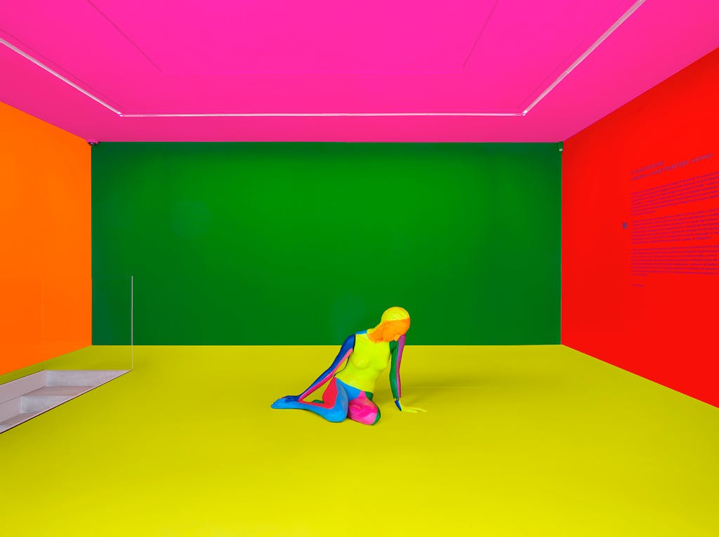 a rainbow . a nude . bright light . summer - © kamel mennour