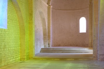 Ann Veronica Janssens  - Abbaye de Fontevraud - © kamel mennour
